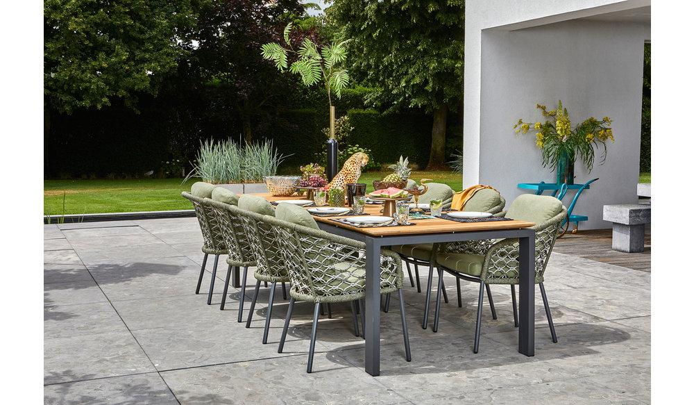 Tuinset | Savona tuintafel met Nappa tuinstoelen