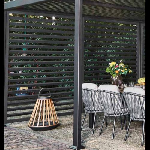 SUNS tuinmeubelen Shutter voor de Maranza Overkapping | Mat Royal Grey | 330 cm