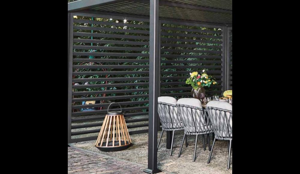 Shutter voor de Maranza Overkapping | Mat Royal Grey | 340 cm