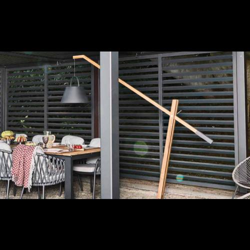 SUNS tuinmeubelen Shutter voor de Maranza Overkapping | Mat Royal Grey | 340 cm