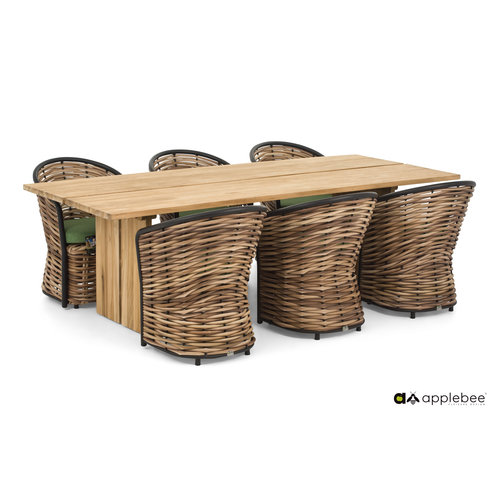 Apple Bee tuinmeubelen Cocoon Diningset | Opstelling 1