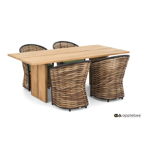 Apple Bee tuinmeubelen Cocoon Diningset | Opstelling 2