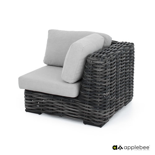 Apple Bee tuinmeubelen Elements XL hoek module | Black Wash