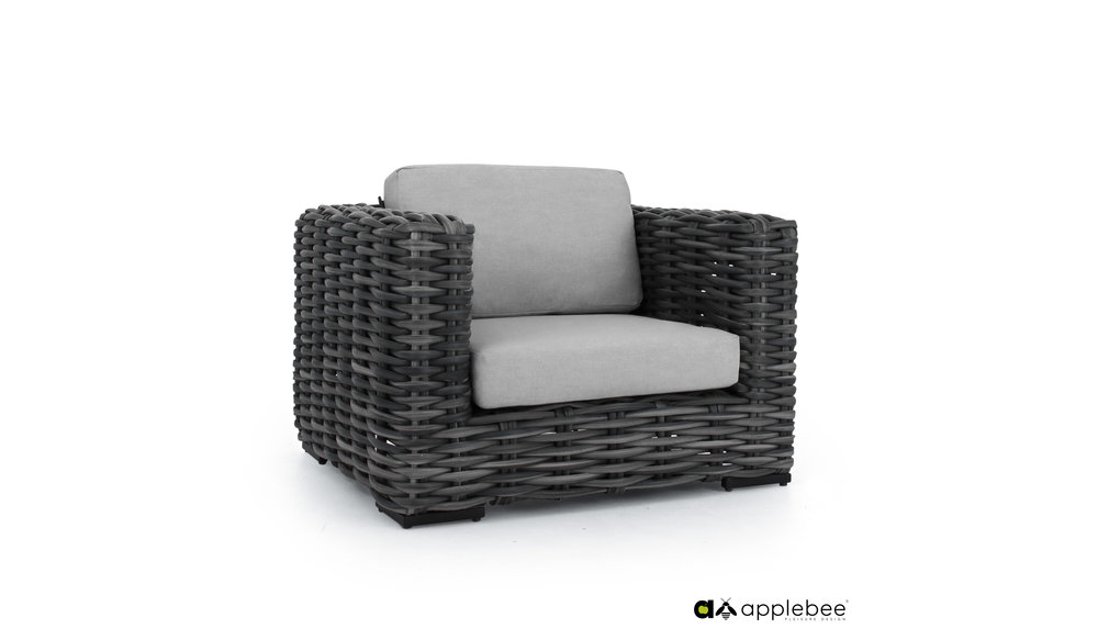 Elements XL Loungestoel | Black Wash