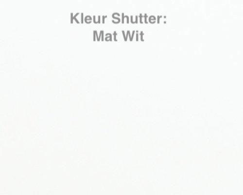 Shutter voor de Maranza Overkapping | Let op ! Kleur is mat Wit | 250 cm