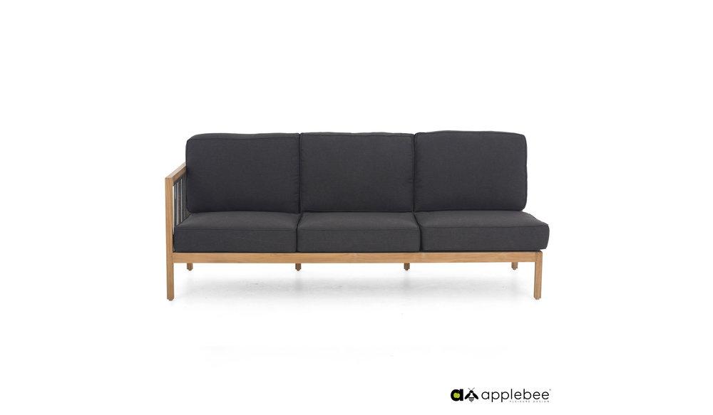 La Croix | Loungebank | Applebee | 3 zits | Leuning rechts