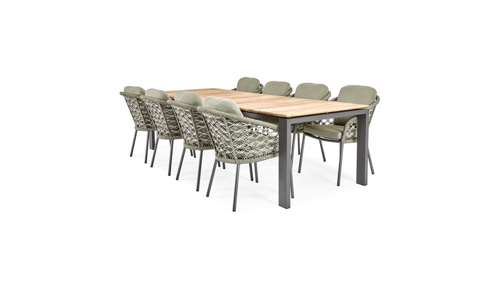 Savona Tuintafel | 280x100 cm  | Mat Royal Grey