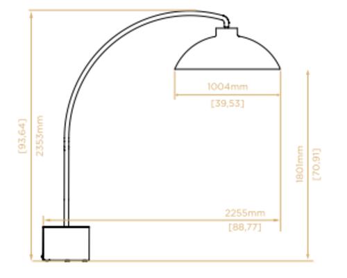 Heater Dome | Mat zwart