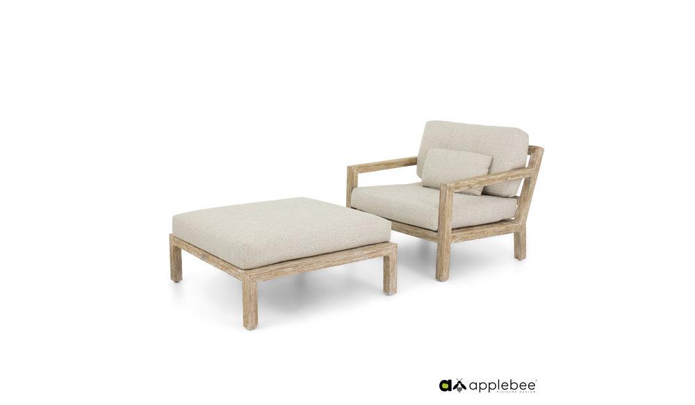 Olive loungestoel
