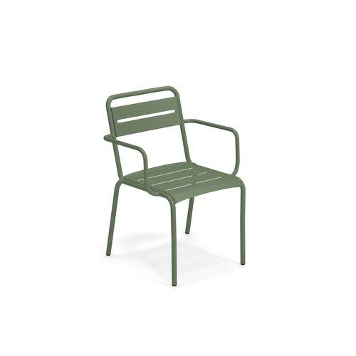 EMU Tuinstoel Star | Leger groen | Met armleuning
