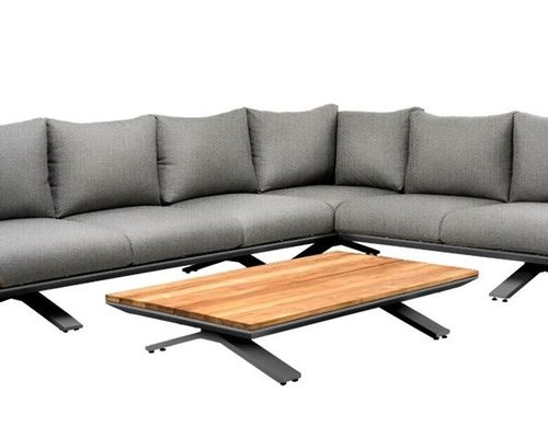 Stockholm loungeset | Light anthracite mixed weave| Opstelling 3