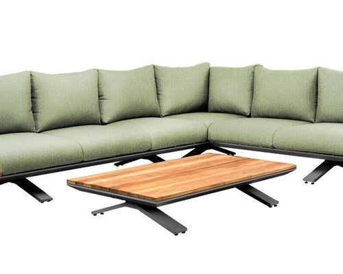 Stockholm loungeset | Soft green mixed weave | Opstelling 3