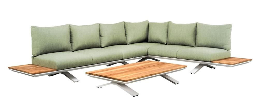 SUNS tuinmeubelen Stockholm loungeset | Mat wit | Opstelling 3