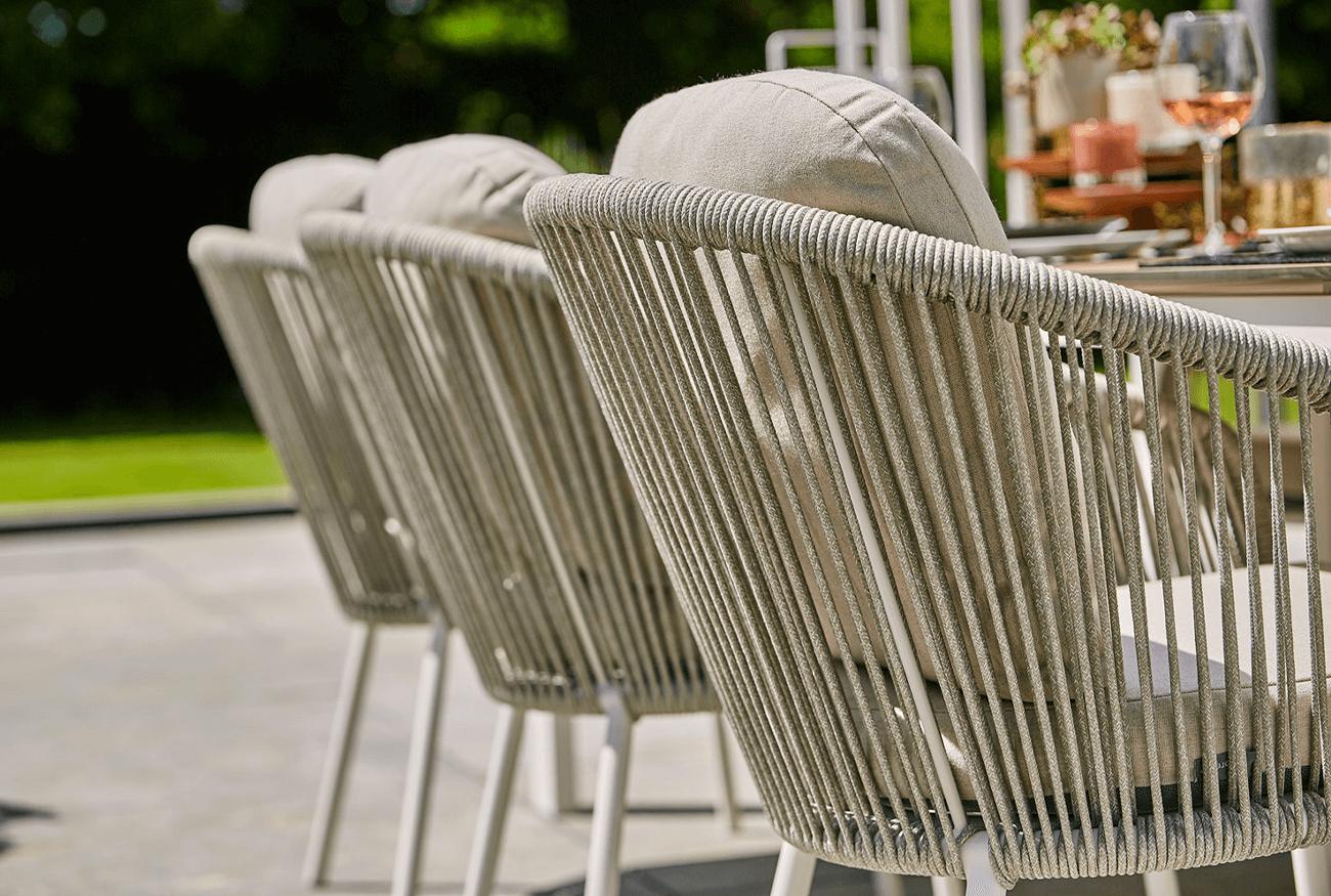 Suns Nappa FIshbone tuinstoel van rope