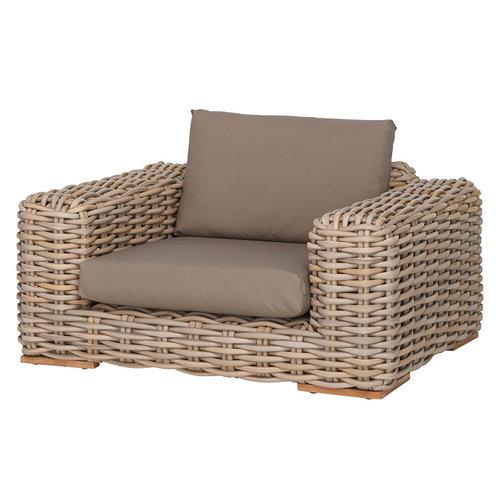 Apple Bee tuinmeubelen FFF Lounge stoel | Taupe