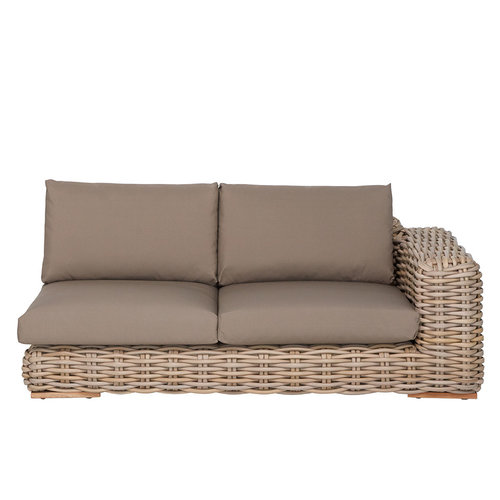 Apple Bee tuinmeubelen FFF Lounge bank links  | Taupe