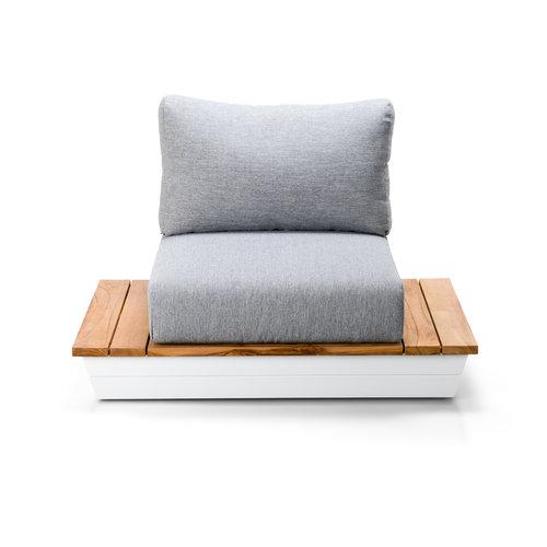 SUNS tuinmeubelen Loungestoel Java   Mat wit   Soft Grey