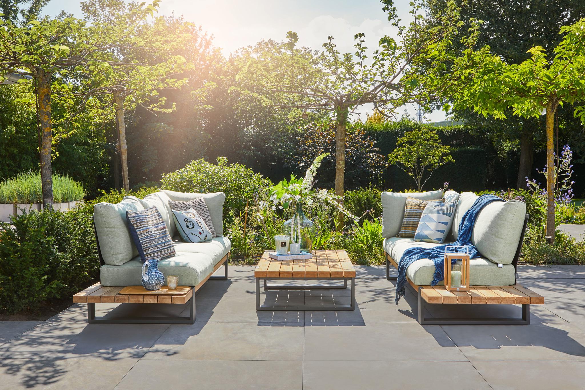 SUNS tuinmeubelen Nardo Sofaset | mat grijs