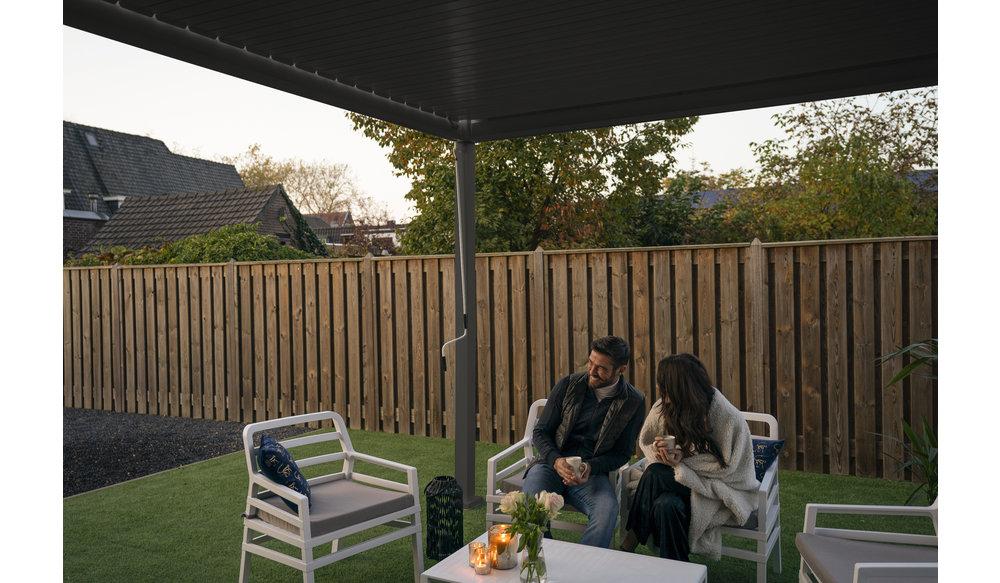 Rota   Terrasoverkapping   Mat Grijs   300x600x250cm