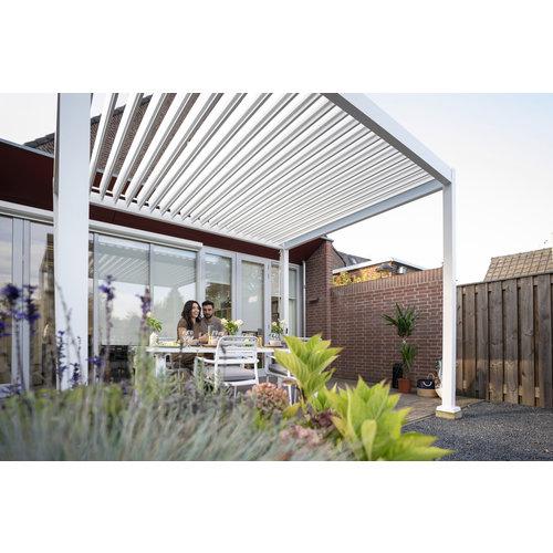 SUNS tuinmeubelen Rota | Terrasoverkapping | Mat Wit | 300x400x250cm