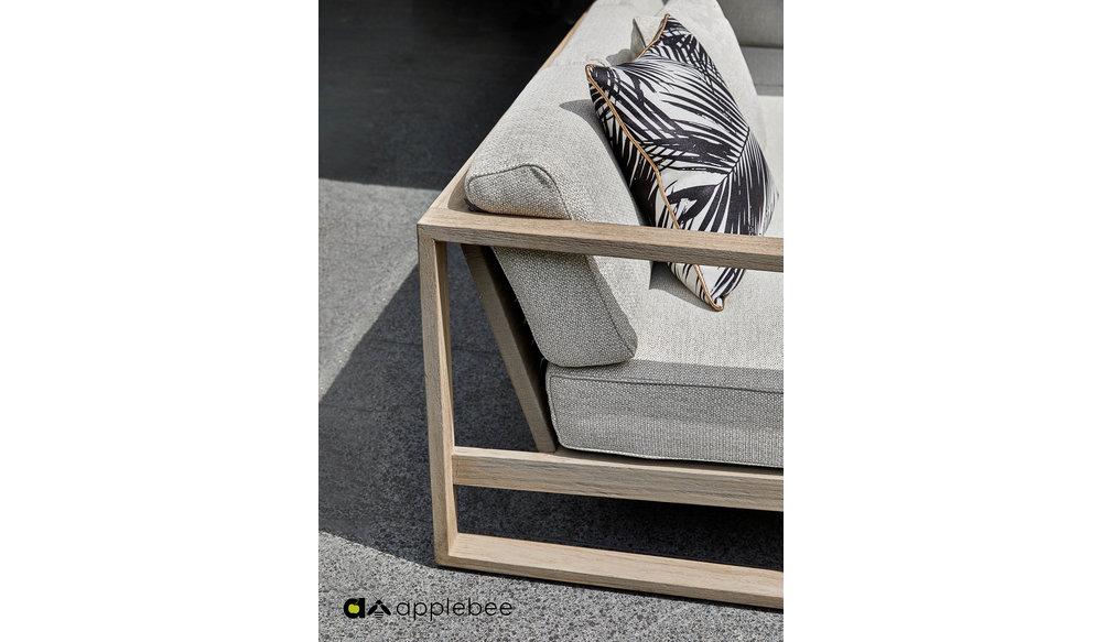 Antigua 2 zits Loungebank | Leuning Links