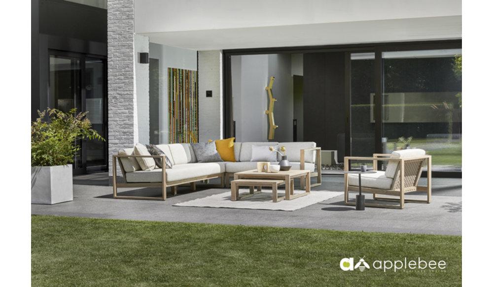 Antigua 3 zits Loungebank | Leuning links