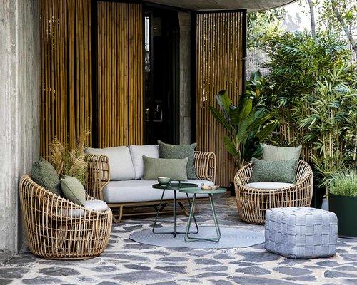 Nest | 2-zits loungebank | Naturel & Wit