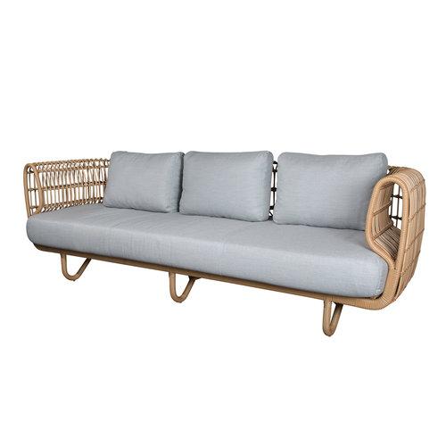 Cane-Line Nest | 3-zits loungebank | Naturel & Wit
