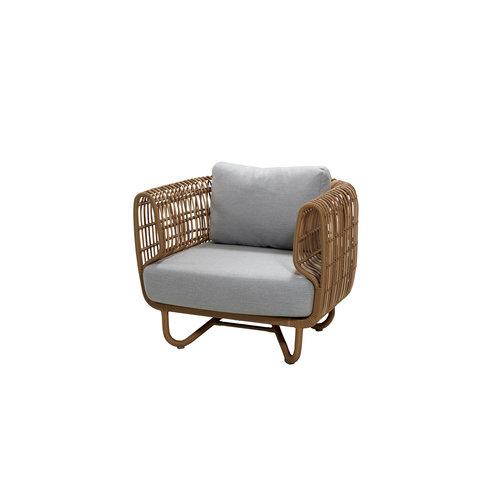 Cane-Line tuinmeubelen  Nest | Loungestoel | Naturel & Wit