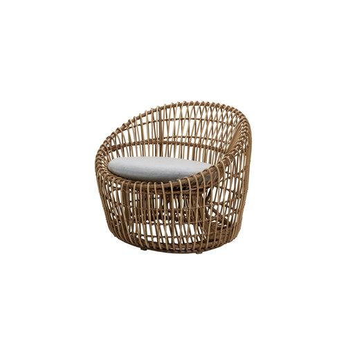 Cane-Line tuinmeubelen  Nest | Loungestoel Rond | Naturel & Wit