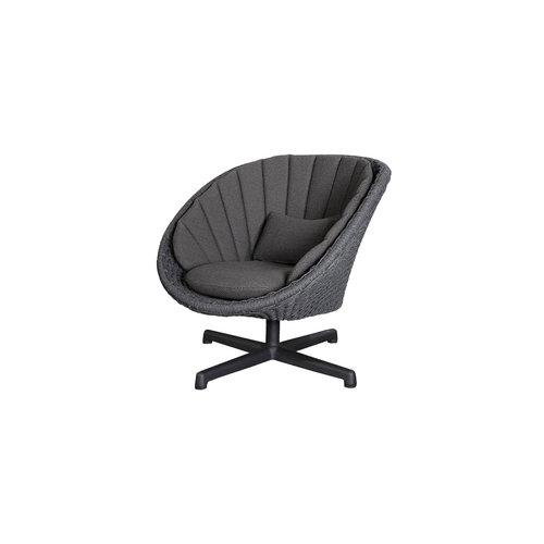 Cane-Line Peacock loungestoel | aluminium poten
