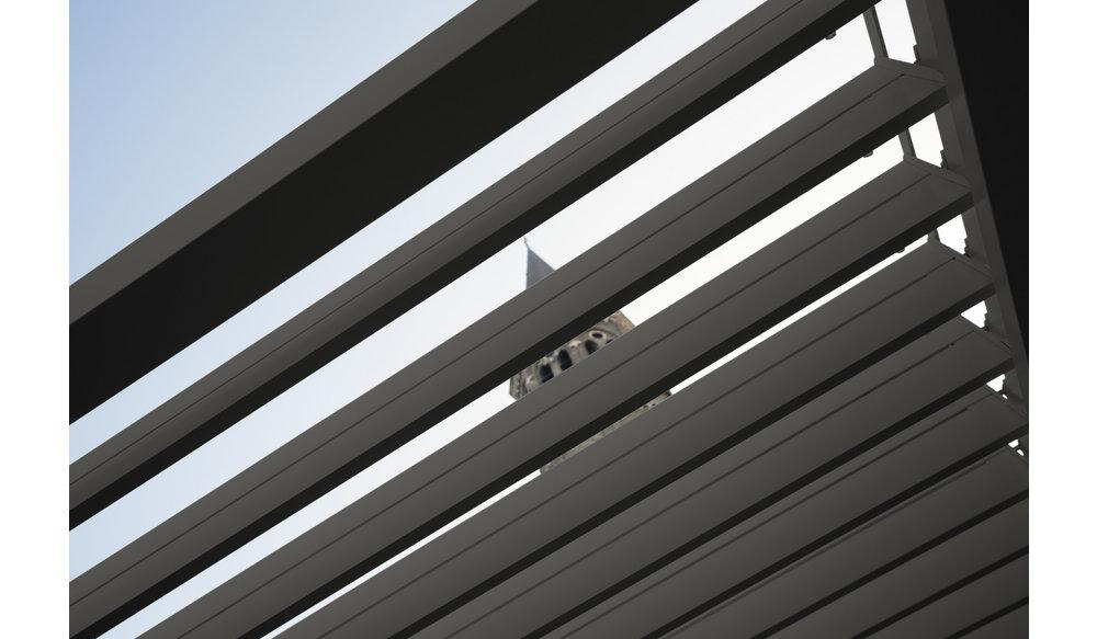 Rota | Terrasoverkapping | Mat Grijs | 360x540x250cm