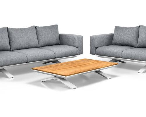 Stockholm Sofaset | 2- en 3 persoons loungebank incl. salontafel | Mat Wit