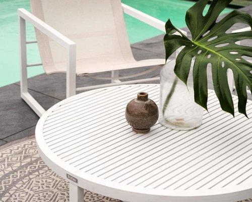 Vevi Loungestoel aluminium | Brafab