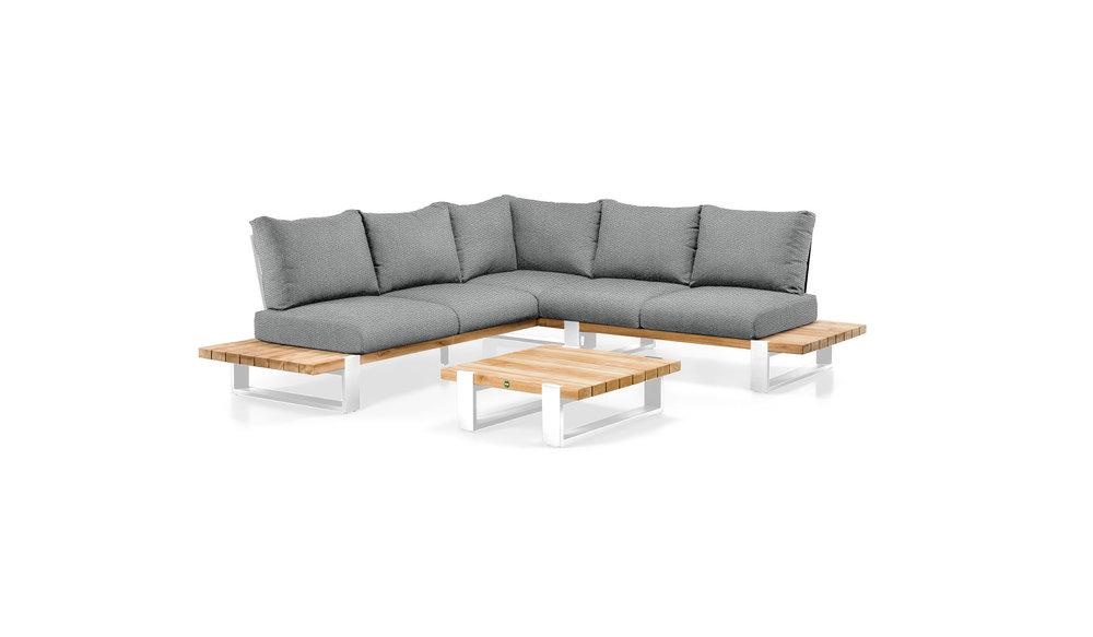 Nardo loungeset | Wit | Opstelling 1