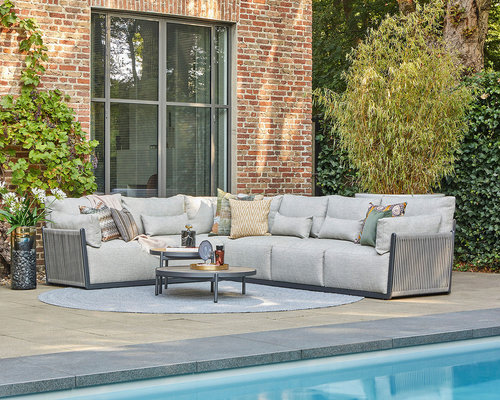 Loungeset Sorrento   Rope   All-weather Kussens