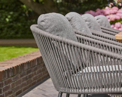 Nappa tuinstoel | Fishbone |mat grijs - light antracite