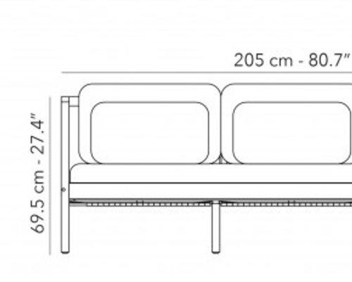 Loungebank Flexx   3 seater
