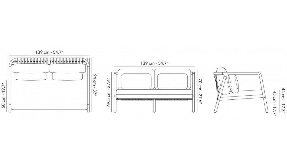 Loungebank Flexx | 2 seater