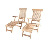 Garden Teak Kingston deckchair per 2