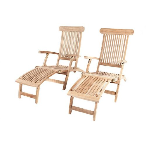 Garden Teak Kingston deckchair per 2