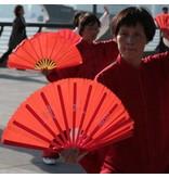 Enso Martial Arts Shop Red Bamboo Tai Chi Fan