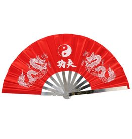 Enso Martial Arts Shop Red Metal Tai Chi Fan