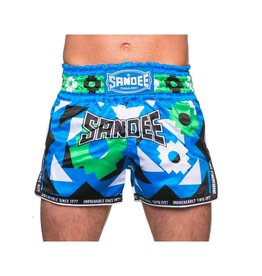 Sandee Sandee Thai Shorts Inca Green & Blue