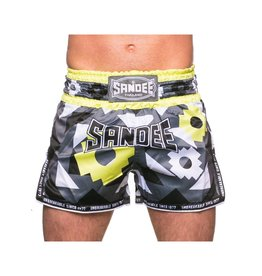 Sandee Sandee Thai Shorts Inca  Black & Yellow