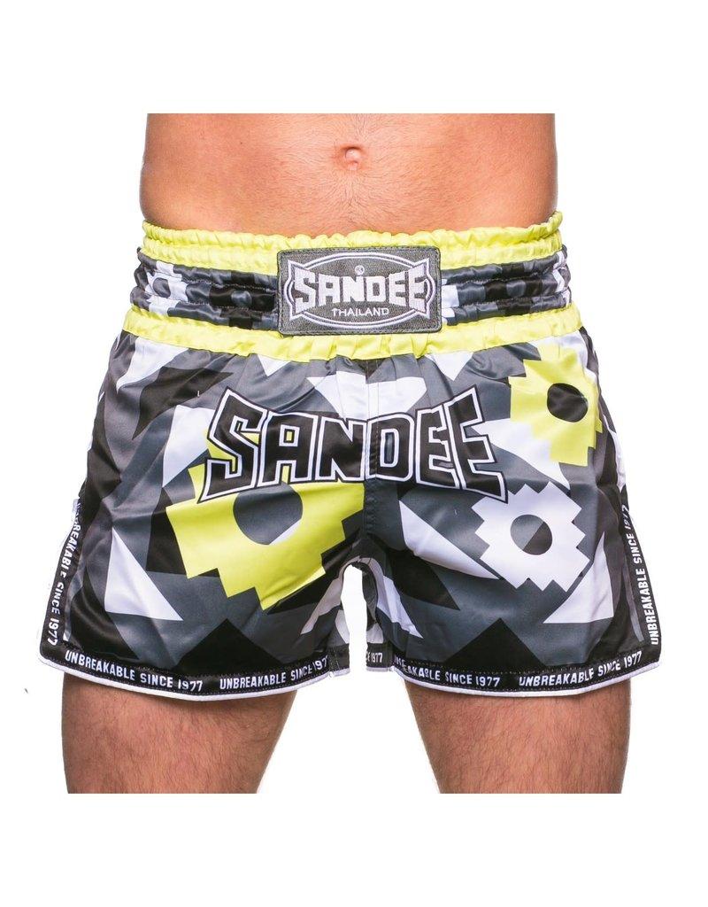 Sandee Sandee Thai Shorts Inca  Black & Yellow