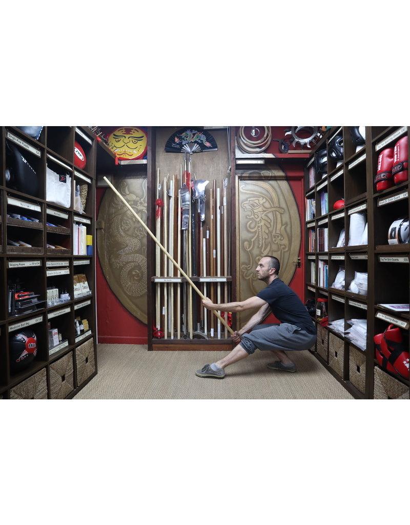 Enso Martial Arts Shop White Wax Wood Kung Fu staff