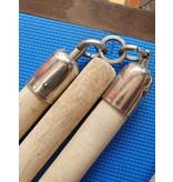 Three Sectional Light Wooden Staff