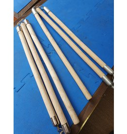 Three Sectional Light Wooden Staff