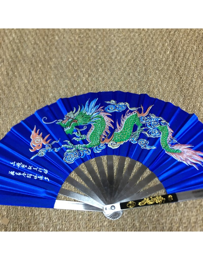 Enso Martial Arts Shop Blue Metal Tai Chi Fan